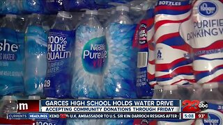 Garces High School holds water drive for earthquake affected communities
