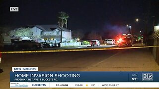 Three hospitalized after home invasion and shooting in Phoenix