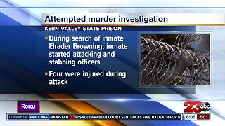 CDCR: Inmate attacks officers