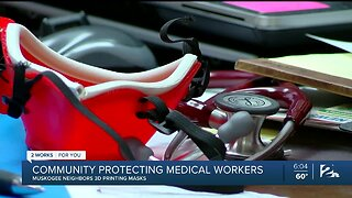 Community helping to protect medical workers