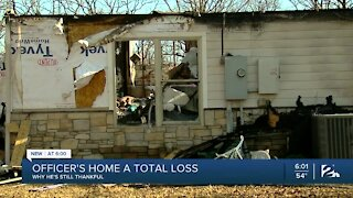 Sapulpa police officer, family without home after house fire