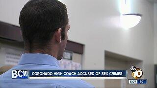 Coronado coach accused of sex crimes pleads not guilty