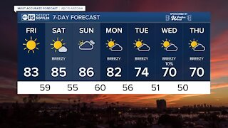 Warmer temperatures expected into the weekend