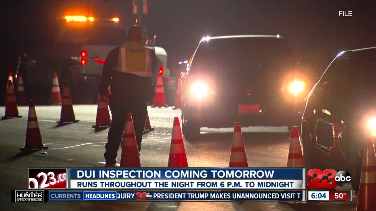 Bakersfield Police Department DUI Checkpoint