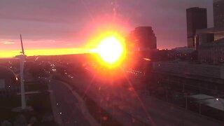 Timelapse of Thursday's sunrise over Cleveland