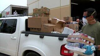 Food distribution via local churches in Palm Beach County