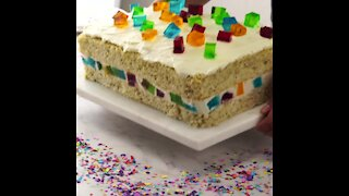 Tres Leches Cake with Mosaic Jelly
