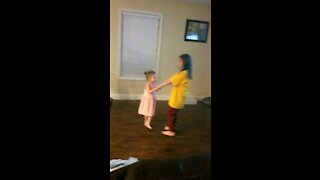 Dancing with the girls
