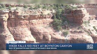 Hiker falls 100 feet at Boynton Canyon