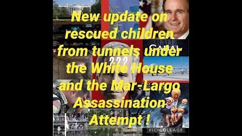 Rescued Children. White House, Epstein, Tunnels, Assassination Attempt