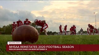 MHSAA votes to reinstate high school football in Michigan this fall