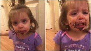 Sweet baby wants more cookies!
