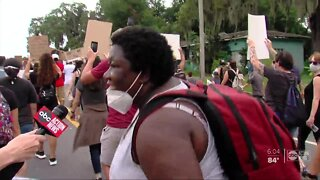 Protesters gather for Black Lives Matter march in Lakeland