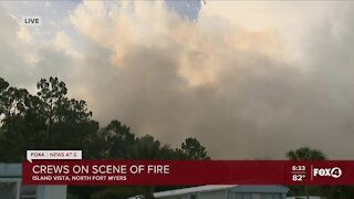 8-acre fire blazing in North Fort Myers