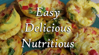 Egg Muffins ~ Low Carb, High Protein Breakfast ~ Keto