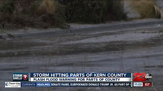 Storm hitting parts of Kern County