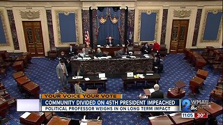 Community divided on President Trump's impeachment