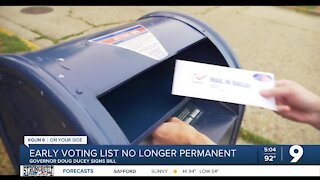 Ducey signs bill making early voting list no longer permanent