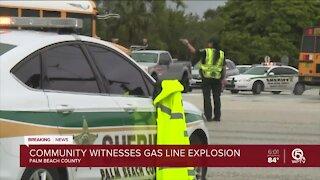 Community witnesses gas line explosion