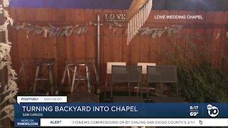 Local woman turns backyard into wedding chapel