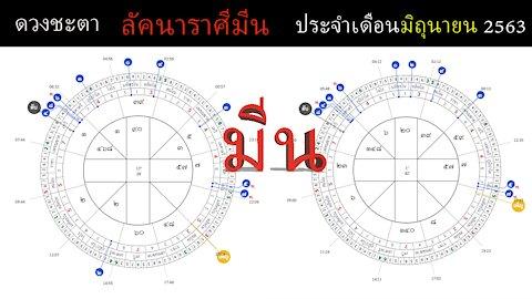 ดวงชะตาลัคนาราศีมีน ประจำเดือนมิถุนายน 2563