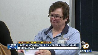 Postal worker calls it a career after 50 years