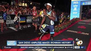 San Diego amputee makes Ironman history