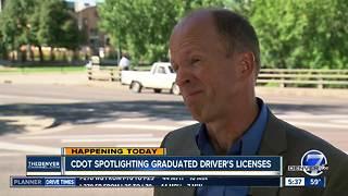 CDOT spotlighting graduated driver's licenses