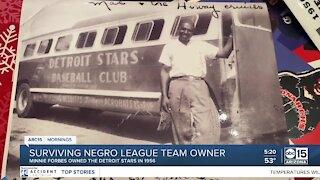 Surviving Negro League baseball team owner recalls history