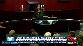 Cynthia Zimmer sworn in as district attorney