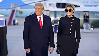 President Donald Trump and First Lady Melania Trump Visit Joint Base Andrews