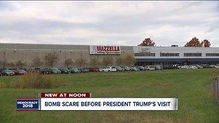 Bomb scare before President Trump's visit