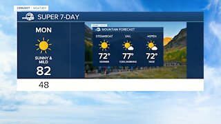 Super 7 Day forecast shows mild temps in Denver all week