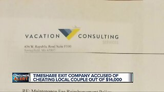 Timeshare exit company accused of cheating local couple out of $14,000