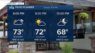 Cooler temperatures Thursday evening
