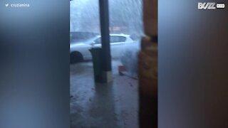 Torrential midsummer rains hit Geneva
