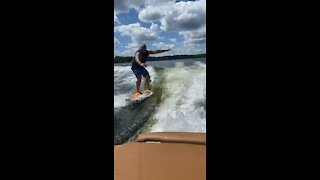 First time wakeboarding!!