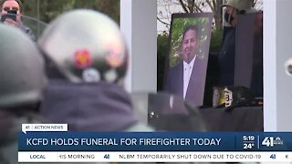 KCFD holds funeral for firefighter Monday