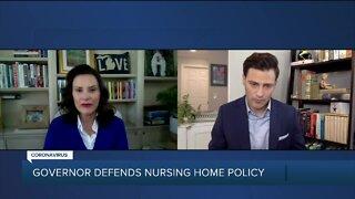 Governor Whitmer defends nursing home policy