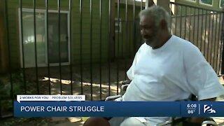 Green Country man battles vendor for power chair repair