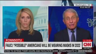 Fauci: It's Possible We'll Have To Wear Masks Till 2022