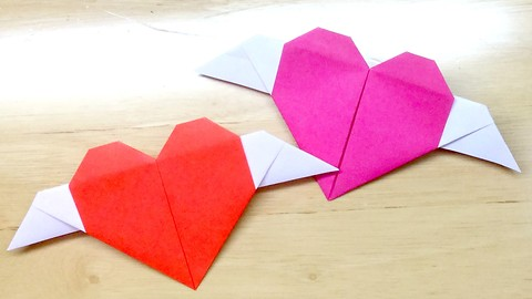 How to make Paper Angel Heart Message card for Valentine's day❤️