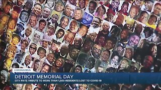 Detroit honors COVID-19 victims with memorial on Belle Isle