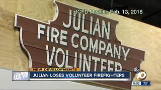 Julian loses volunteer firefighters