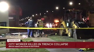Eastpointe worker dies after trench collapse from water main break