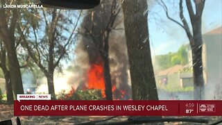 One dead after plane crashes in Wesley Chapel
