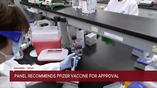 FDA recommends Pfizer vaccine for approval