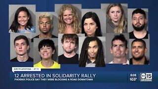 Phoenix police arrest 12 at rally for racial justice