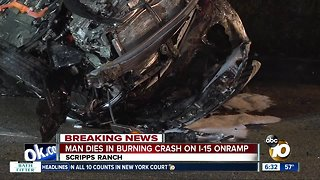 Witnesses unable to save driver after fiery wreck