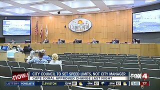Cape Coral city council votes to set speed limits themselves.